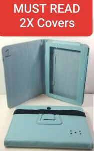 """2X Folio Leather Case Cover For Tablet 