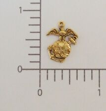 57621         Antique Gold US Marine Charm Jewelry Finding