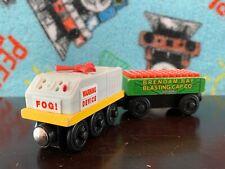 Wooden Railway Thomas & Friends Fog Horn & Blasting Cap Car - Works - 2003 -Used