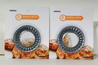 2 Count Miniso 2 Count 10.5 X 1.7 Cm Mini Pie Baking Mold Carbon Steel