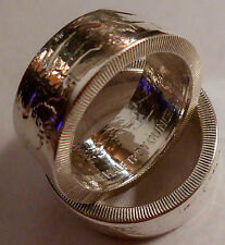 Coin ring made from Walking Liberty .999  1/2 OZ SILVER Round  in size 8-14