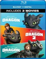 How To Train Your Dragon: 3-Movie Collection Blu-ray + Digital 2019 BRAND NEW...