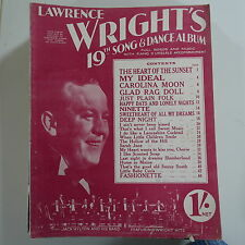 LAWRENCE WRIGHT`s 19th song & dance album , cover feat. jack hylton