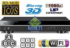 YAMAHA BD-S677 Region Free DVD and Region ABC Blu-Ray Disc Player- 3D, USB, WIFI