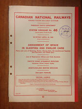 1960 Canadian National Railways System Circular No. 46