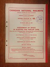 1960 Canadian National Railways System Circular No. 46
