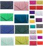 Pleated Suede Wedding Ladies Party Prom Evening Clutch Hand Bag Purse 24 colors