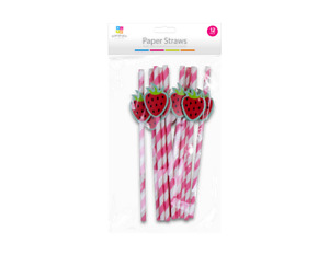 Assorted Paper Straws Birthday Party Tropical Beach Fun 12 pack