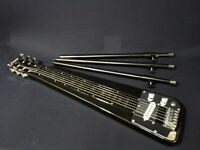 Haze Solid Body Electric LAP Steel Guitar,Metallic Black+Glass Tone Bar. LT 1920
