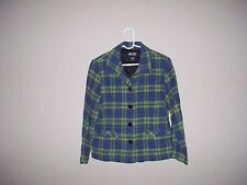 NY & Co Womens Size M Multi-Color Plaid 25% Wool Long Sleeve Jacket
