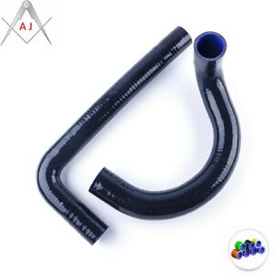 Black For CHEVY II/NOVA V8 / l6 MT 1962-1967 Silicone Hose Radiator Coolant Pipe
