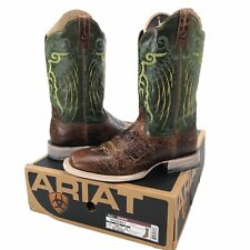 "Ariat 10006841 Mesteno 12"" Lime Green Wide Square Toe Western Boots Men's 11 EE"