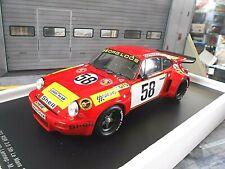 PORSCHE 911 Carrera RSR 3.0 Le Mans Gelo Loos 1975 #58 Spark Resin RAR 1:18