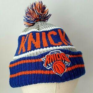 New York Knicks Bobble Hat New Era NBA Blue Orange