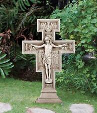 Avalon Gallery San Damiano Go Repair My Church Garden Cross Crucifix, 23 1/2Inch