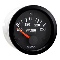 Vdo 310-105 Vision Black 250�F Water Temperature Gauge Use Us Sender 12V
