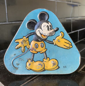 VINTAGE MICKEY MOUSE PASCAL TRIANGLE TIN
