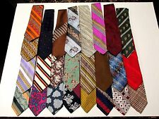 Wholesale Lots (25 PCS.) Mens Wide/Fat Polyester Ties
