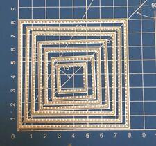 Brand New 7 Stitched Edge Nesting Square Framelit Metal Die Cutter Uk Seller