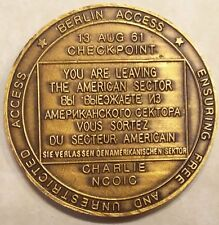 Checkpoint Charlie NCOIC Berlin Military Police Cold War Army Challenge Coin