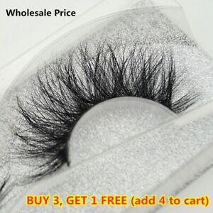 SKONHED 3D Mink Hair False Eyelashes Wispy Cross Lashes Fluffy Lashes-Extension^