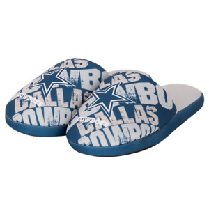 Dallas Cowboys NFL Boys Graphic Slippers, Size Small (1/2) , New With Tags