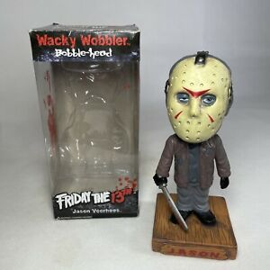 "Funko Jason Voorhees Friday The 13th Wacky Wobbler Bobble Head 7"" Figure Boxed"