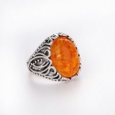Men's/Women's amber RING Fashion Jewelry FREE Size 7 8 9 10 11