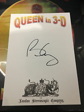 BRIAN MAY AUTOGRAPH COA QUEEN IN 3D SIGNED BOOK STEREOSCOPIC BOXSET SEALED