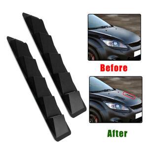 2Pcs Car Bonnet Hood Vent Louvers 5 Scoop Cover Air-Flow Inlet Black 44*13*6.5cm