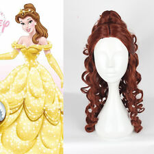 Beauty and The Beast Princess Belle Cosplay Wigs Anime Costume Party Brown Wig