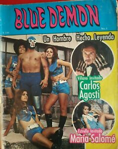 BLUE DEMON  num 1 COMIC IN SPANISH VINTAGE ORIGINAL  LIKE SANTO