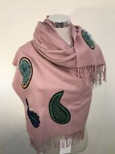 Paul Smith Women Scarf Made In England Paisley Pink RRP£320