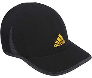 NEW adidas Men's AEROREADY Superlite Cap- Black/Active Gold/Dark Heather Grey