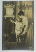 Neujahr, Frauen, Kinder, Mode, Uhr, 1920  ♥ (3361)