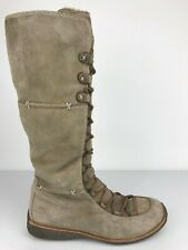 Timberland Earthkeepers  Womens Leather Fur Knee High Tall Zip Boots Size 9 M