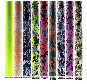"""Camo EVA Straight Grips - I.D 3/8 - Length 14"""" - 9 colours"""