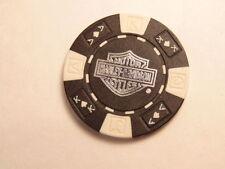 Black & white Harley-Davidson Motorcyle Factory Tour poker chip, York, PA