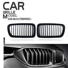 Matte Black Front Kidney Grill Grilles Cover for BMW E38 7-Series 1995-2001 740i