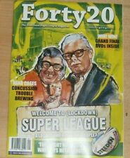 Forty 20 The Rugby League magazine Jan 2021 Welcome to (Lockdown) Super League