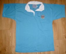 BATH RUGBY-NEW Unworn-Embroidered S/Sleeve Mid/Sky Blue Rugby Shirt Size MEDIUM