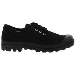 Palladium Pampa Ox Originale Mens Black Canvas Low Top Shoes Trainers Size 8-11