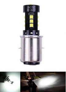 LED H6 pour ATV scooter moto ampoule 6000K CREE pour phare avant 1pc