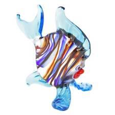 GlassOfVenice Murano Glass Striped Round Fish