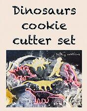 Dinosaurs Set Uk Seller Plastic Biscuit Cookie Cutter Fondant Cake Decorating