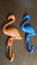 1 Pink or custom color Flamingo Single Wall Hook Painted Cast Iron 8 Inches