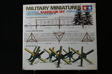 XD102b TAMIYA 1/35 maquette 35027 250 Barricade set military miniatures barriere