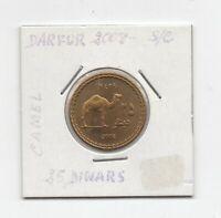 Moneda  Sultanato Darfur 25 Dinar  2008 sin  circular  Ref. M 308