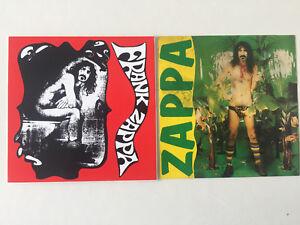 Lot  2   Autocollants   FRANK  ZAPPA   Stickers