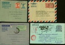 India - Aerogramme. Lot of 4  Air Letter to Honduras/USA.........(VG) MV-7501